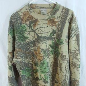 Jerzees Outdoors Long Sleeve Tree Print Camo